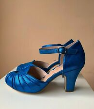 Miss L-Fire Amber heels in Electric Blue Sparkle 36-41