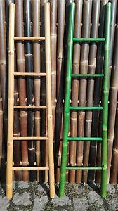 Bambusleiter Leiter Handtuchhalter Kleiderleiter Kleiderständer 180cm 2 Farbig