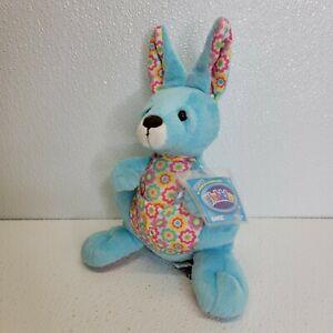 Springy Kangaroo Plush HM603 Ganz Webkinz SEALED CODE! Blue Pink Yellow Floral