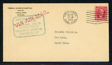 Canal Zone First Flight Cover LOT #19 CZSG #12 1928 CRISTOBAL - COSTA RICA #1 $$