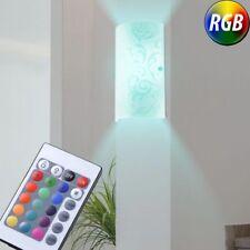 RGB LED Wand Leuchte Fernbedienung Schlaf Zimmer Strahler Glas Lampe dimmbar