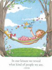 Leisure Reveals Who We Are-Handcrafted Fridge Magnet-w/Mary Engelbreit art