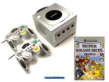 ## Nintendo GameCube GC Konsole silber + 2 Pads + Smash Bros. Melee ##