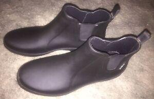 AIGLE Women's Ankle Rubber Rain Boots Black Size US 8 ~ Eu 39 ~ UK 6