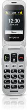 emporiaONE Silber-Grau Klapphandy 2 MP Kamera Micro-USB IP54 Micro SD BRANDNEU
