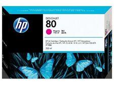 GENUINE HEWLETT PACKARD HP 80 MAGENTA INK CARTRIDGE 350ML C4847A 2015 DATE
