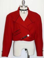 """SCHNEIDERS RED WOOL JACKET Women AUSTRIA Dress SHORT Fitted DESIGNER 12 M B42"""""""
