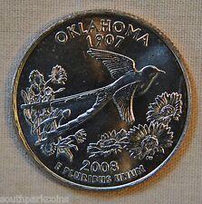 2008-D Uncirculated Oklahoma Statehood Quarter - Single