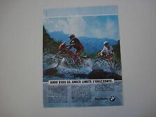 advertising Pubblicità 1990 MOTO BMW R100 R 100 GS