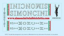 Simoncini Bicycle Decals-Transfers-Stickers #1