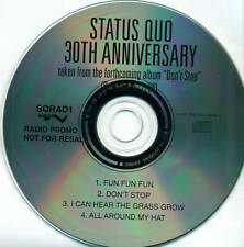 STATUS QUO - DON'T STOP RADIO PROMO CD RARE D2337