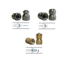 """Sewer Jet Drain Cleaner Jetting Nozzle Kit Include Mole Laser Rotating 1/8"""" #4"""