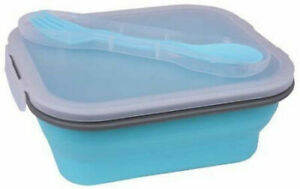 Double or Single Compartment Collapsible Silicone Lunch Meal Prep Food Storage