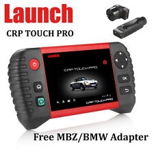 LAUNCH CRP Touch Pro Full System Diagnostic Scanner Tool DPF SAS MBZ BMW Adapter