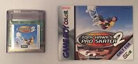 Nintendo Rare Tony Hawk's Pro Skater 2 w/ Manual Gameboy Color Cartridge GBC