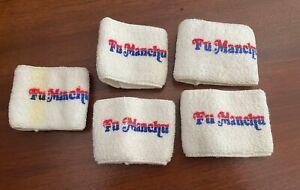 Fu Manchu '90's Original Promo only FIVE(5)wrist sweat bands never worn 4 R mint