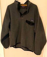 Vintage Patagonia Synchilla T Snap Fleece Gray Jacket Men's Medium