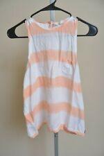 ROXY Peach Orange Ombre High Neck Button Back Sleeveless Tank Top Women's M