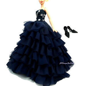 Barbie Sikstone Fashion Gown Shoes Underskirt Midnight Glamour Gold Label