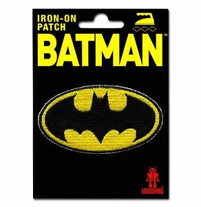 LOGOSHIRT - DC Comics - Superhero - Batman Logo - Aufnäher - Patch