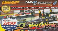 2016 Muy Caliente Racing Jet Dragsters NHRA postcard
