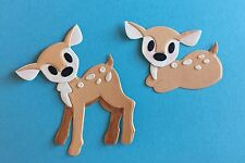 2  REALLY SWEET DEER  EMBELLISHMENTS. PAPER PIECING. CARDS. SCRAPBOOK PAGES.