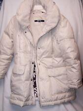 Donna Karan DKNY Down Cream Long Puffer Winter Coat Jacket Women Medium
