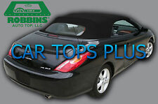 "2004-2009 Toyota Solara Convertible Top & Heated Glass ""Robbins"" Black Cloth"