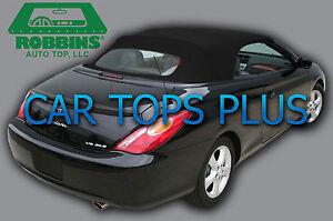 "2004-2009 Toyota Solara Convertible Top & Heated Glass ""Robbins"" Black Cloth"
