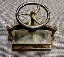 "ANTIQUE CAST IRON COUNTERTOP BOOK BINDING PRESS. Top Plate:9.75"" x13"".Works Well"