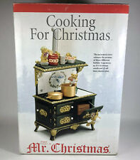 Mr. Christmas Cooking For Christmas Bear Kitchen Animated Decoration 2003