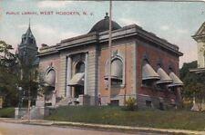 Postcard Public Library West Hoboken NJ