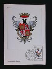 SPAIN MK 1966 ESCUDO TOLEDO WAPPEN BLAZON MAXIMUMKARTE MAXIMUM CARD MC CM c5592