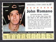 1961 POST CEREAL #67  John Romano CLEVELAND INDIANS ( Company Version )  EX+   A