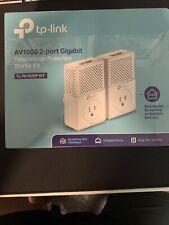 TP-LINK AV1000 2-port Gigabit Passthrough Powerline Started Kit.  TL-PA7020P Kit