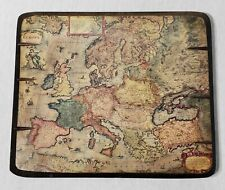 Vintage Fine Arts Press Europa Map Wood Wall Plaque Handmade Europae Ptolemy