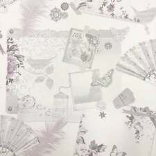 ARTHOUSE VIP HEATHER FLORAL ROSES SHABBY CHIC FEATURE QUALITY WALLPAPER 693000