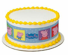 Peppa Pig image cake strips frosting topper sides decoration icing #7555
