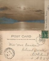 PITTSTON PA RIVER VIEW 1906 ANTIQUE REAL PHOTO POSTCARD RPPC