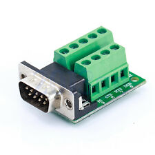 DB9 D-SUB 9 Pin Male Adapter RS232 to Terminal Breakout Board Signal Module YG