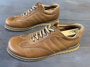 Mens Alfani Leather Lace Up Shoes Brown Size 10.5 Made In Italy Oxford