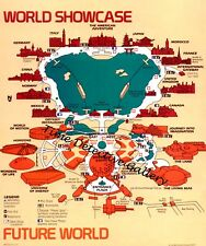 Vintage 1989 Disneyworld Epcot Map - Poster - Available in 5 Sizes