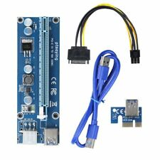 PCI-E 1x to 16x Power GPU Extender Riser Adapter USB 3.0 Cable 6 PIN SATA Mining