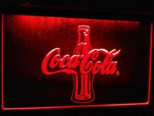 Coca Cola LED Neon Bar Sign Home Light up Pub Beer Lager Coke Drink Soft Bottle