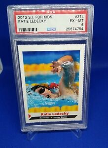 2013 Katie Ledecky Sports Illustrated for Kids PSA 6 Card Gold Olympic Swimmer