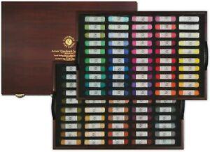 Mungyo Gallery Artists' Handmade Soft Pastels 100 Color Pastel Wood Set MPHM100W
