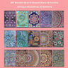 5D DIY Mandala Diamond Painting 50 Pages A5 Notebook Diary Book Sketchbook