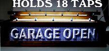 18 BEER Tap handle display led Lighted 3 tier GARAGE BAR - BAR OPEN SIGN