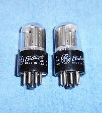 2 General Electric 6Sl7Gt Vacuum Tubes - 1950's Vintage Audio Twin Triodes