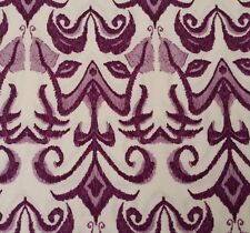 Lilliput Fields BTY Tina Givens FreeSpirit Ikt Violet Purple Ecru Scrollwork